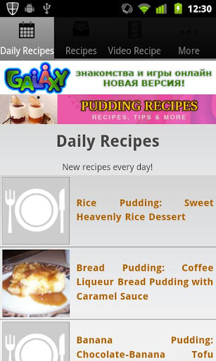 Pudding Recipes