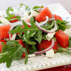 Watermelon Arugula and Feta Salad