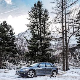 Audi A4 allroad by Mauro Amoroso - Transportation Automobiles ( car, allroad, audi, winter, mountain, cold, ceresole, auto, a4, ≈≈≈ )