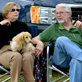 Family by Mallory Hynes - People Couples ( cigar, old, louisiana, couple, dog )