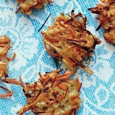 Parsnip and Carrot Latkes (Vegetable Pancakes)