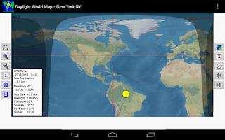 Screenshot of Daylight World Map