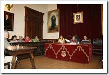 Integrantes del equipo de gobierno y del grupo municipal popular, este pasado 17 de julio en el Pleno.