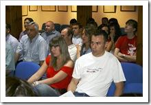 Algunos de los participantes en el curso, durante el acto de apertura.