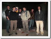 Integrantes del grupo musical 'Estado Decepción'.