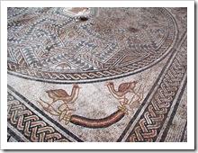 Uno de los mosaicos más destacables del yacimiento.
