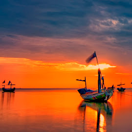 sailing..... by Andy Bagus - Transportation Boats
