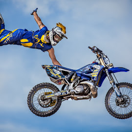 One handed Indian Air by Josh Rud - Sports & Fitness Motorsports ( big air, action sports, motocross, tricks, fmx, motorcycle, dirt bike, freestyle )