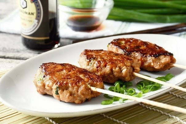 Tsukune (Chicken Meatballs) Recipe — Dishmaps