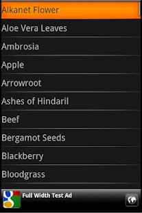 Oblivion Alchemy Ingredients - screenshot