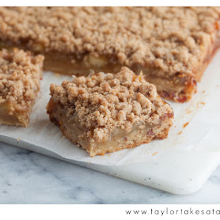 Apple and Bourbon Bars with a Bacon Shortbread Crust