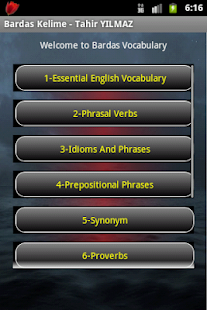 Vocabulary Learning App. - screenshot