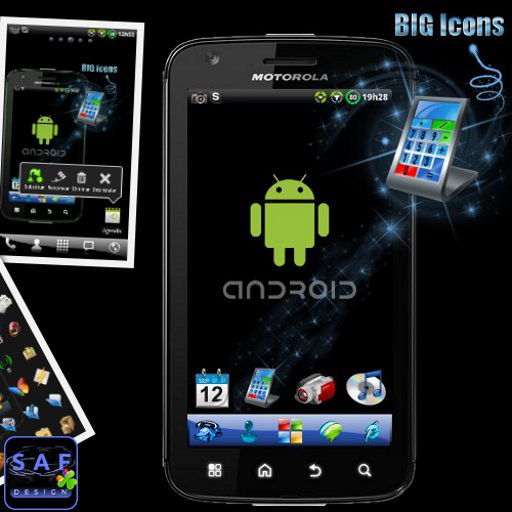 BIG ICONS Pack GO Theme Aplicaciones para Android