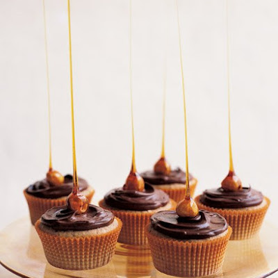 Candied-Hazelnut Cupcakes