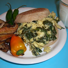Eggs Florentine Breakfast Menu (Lite-Bleu)