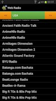 Screenshot of Internet radio Free