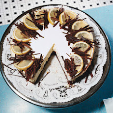 Brownie-Bottom Lemon Cheesecake