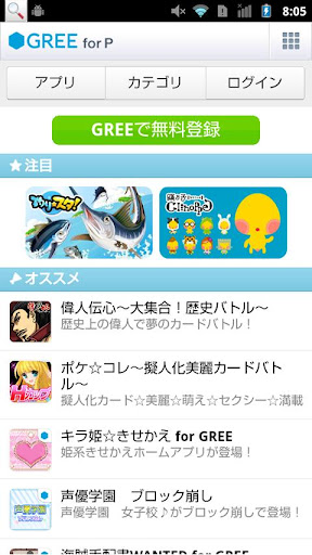 GREE for P