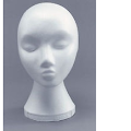 Polystyrene wig stand