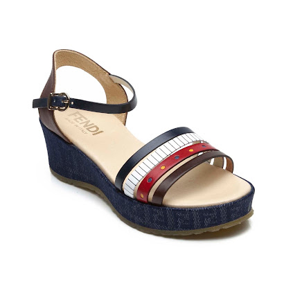 Fendi Denim Wedge Sandal DENIM SANDALS