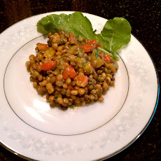 Lentil-Red Pepper Salad