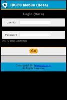 Screenshot of IRCTC Train Reservation