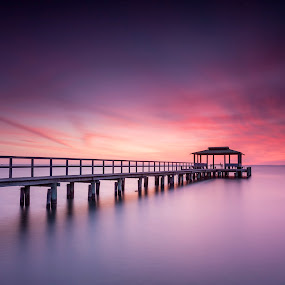 Welcome, spring by Edward Kreis - Landscapes Waterscapes ( gnd, stacked, rgnd, chesapeake bay, landscape, spring, pastels, lee filters, dawn, singh-ray filters, shady side, sunday, maryland, pier, long exposure, sunrise, little stopper )