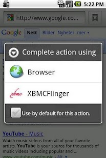 XBMCFlinger - screenshot
