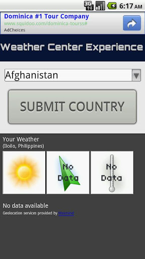 Weather Center Experience