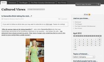 Screenshot of Cultured Views