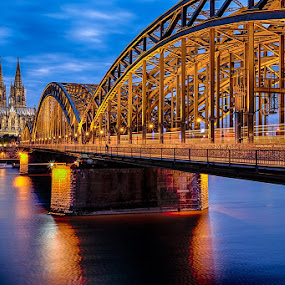 Hohenzollernbrücke by CK Lam - Buildings & Architecture Bridges & Suspended Structures ( cologne, cologne bridge, europe, germany, köln, kölner dom, cologne love lock bridge, cologne cathedral, hohenzollernbrücke )