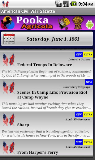 1861 June Am Civil War Gazette