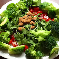 Green Goddess Salad topped with Almonds