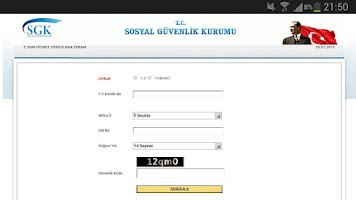 Screenshot of Ssk Sorgulama Mobil Versiyon
