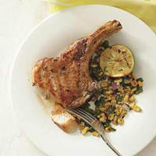 Grilled Pork Chops with Poblano-and-Corn Relish