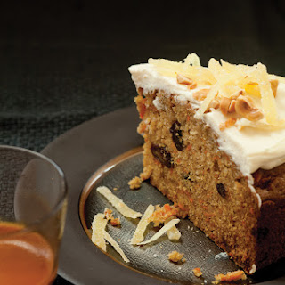 Sweet Potato Spice Cake with Hazelnuts and Candied Ginger