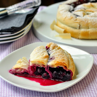 Blueberry Phyllo Snake Pie
