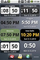 Screenshot of World Clock Widget Pro