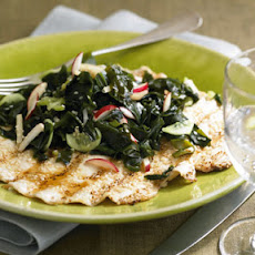 Sesame-Crusted Chicken Paillards with Seaweed Salad