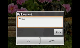Screenshot of Tinipiny Camera (text bubbles)