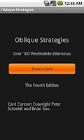 Screenshot of Deprecated-Oblique Strategies