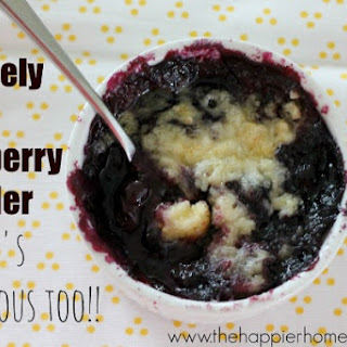 Mason Jar Blueberry Cobbler