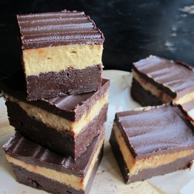 Triple Decker Peanut Butter Brownies
