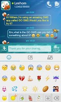 Screenshot of GO SMS Pro Emoji Plugin