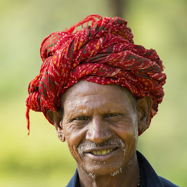 Indian Farmer by Mukesh Chand Garg - People Portraits of Men
