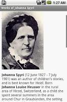 Screenshot of Works of Johanna Spyri