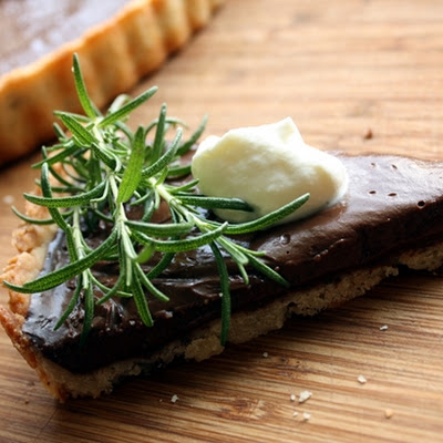 Rosemary Chocolate Tart