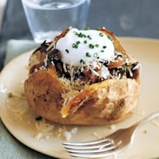 Baked Potatoes with Sauteed Mushrooms and Yogurt
