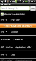 Screenshot of Mac Shortcuts