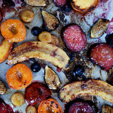 Broiled Summer Fruit with Anise-Honey Butter Recipe
